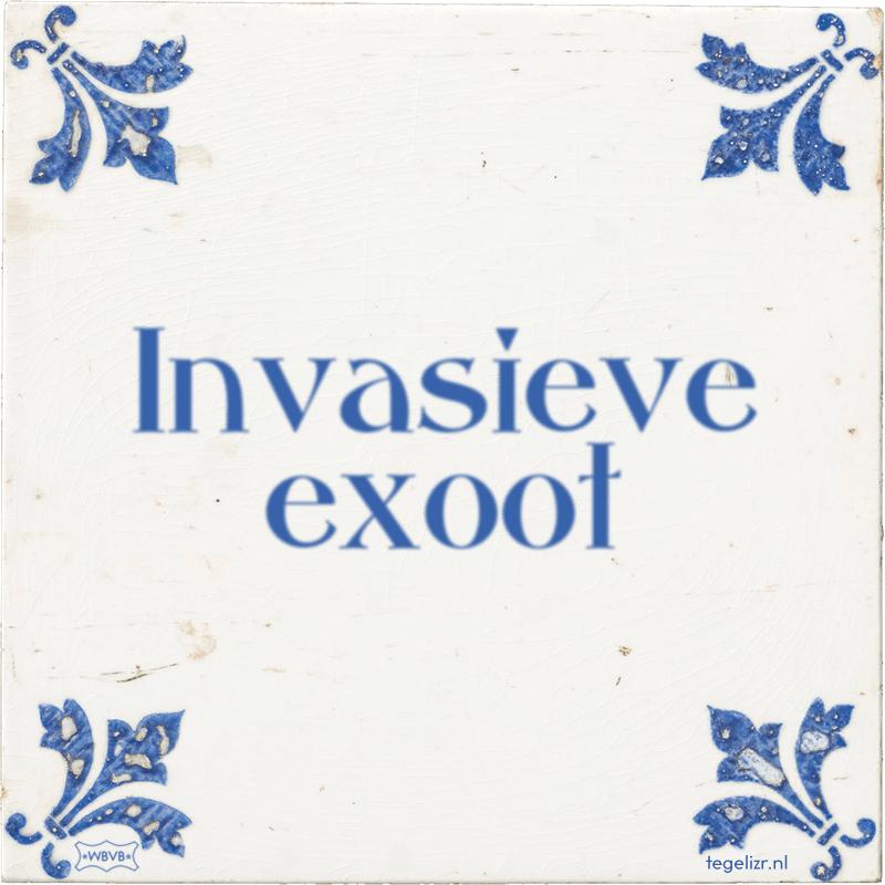 Invasieve exoot - Online tegeltjes bakken