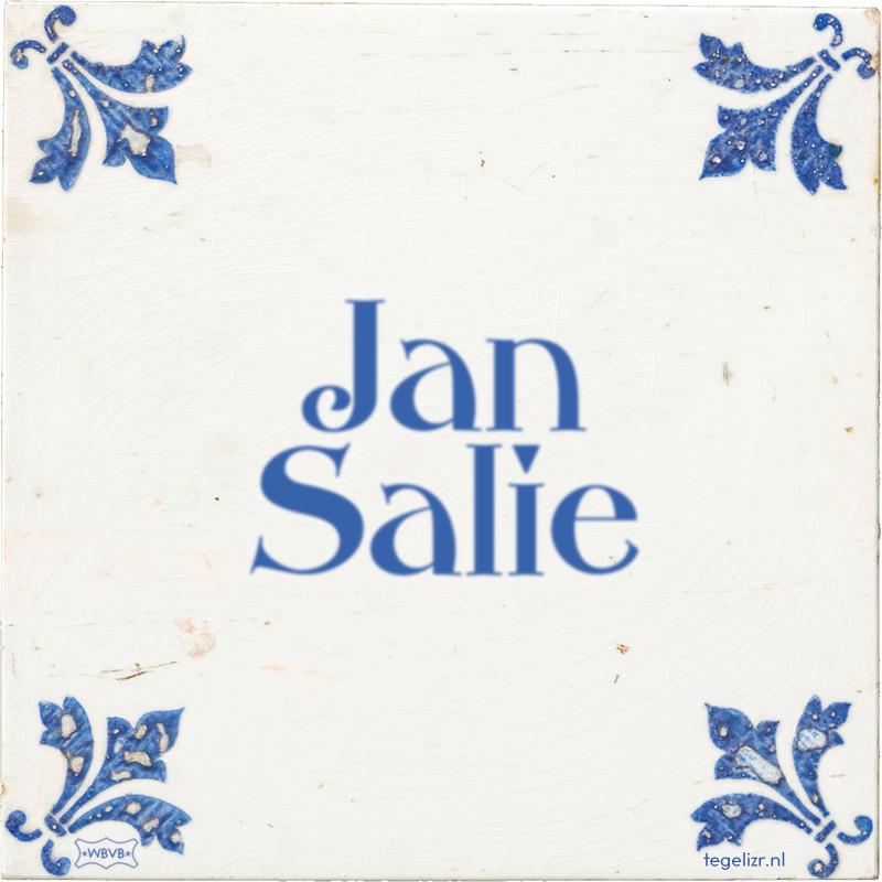 Jan Salie - Online tegeltjes bakken