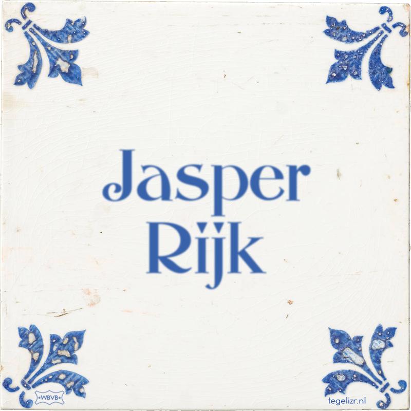 Jasper Rijk - Online tegeltjes bakken