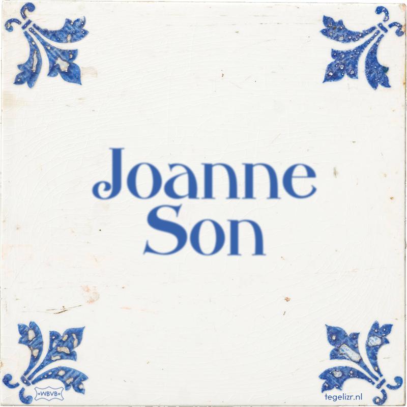 Joanne Son - Online tegeltjes bakken
