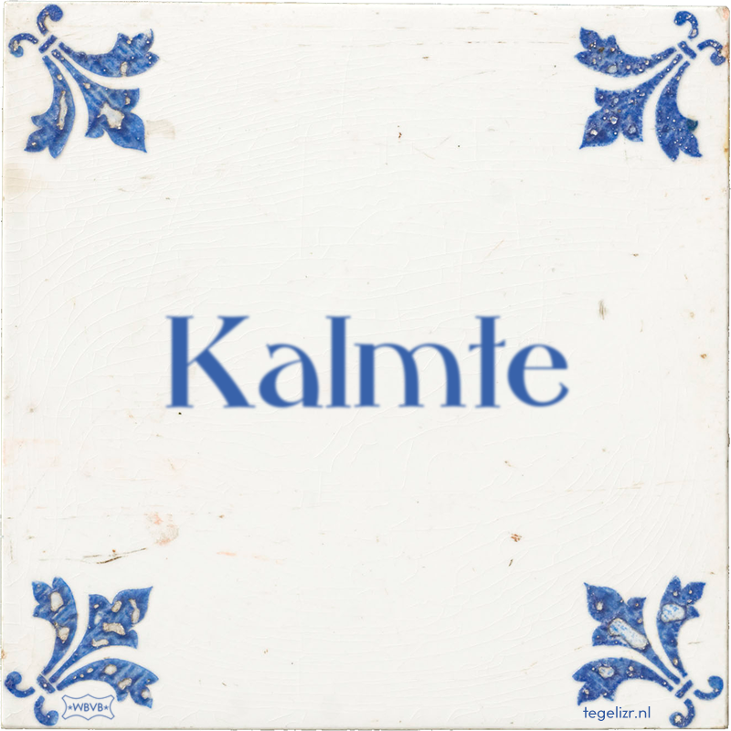 Kalmte - Online tegeltjes bakken