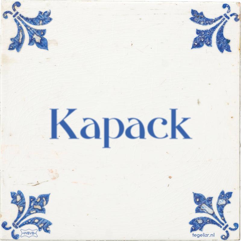 Kapack - Online tegeltjes bakken