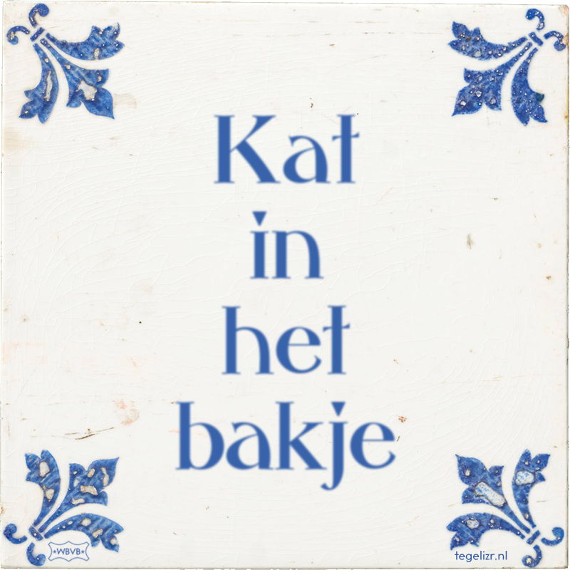 Kat in het bakje - Online tegeltjes bakken
