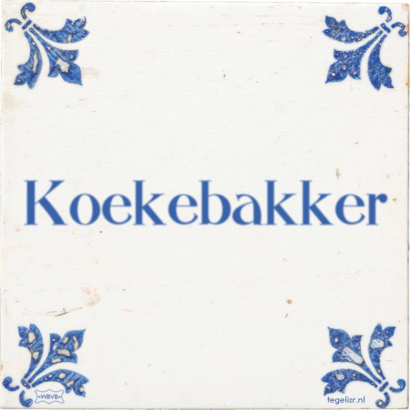 Koekebakker - Online tegeltjes bakken