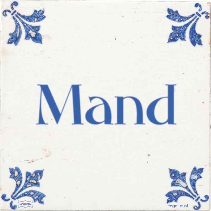 MAND! - Online tegeltjes bakken