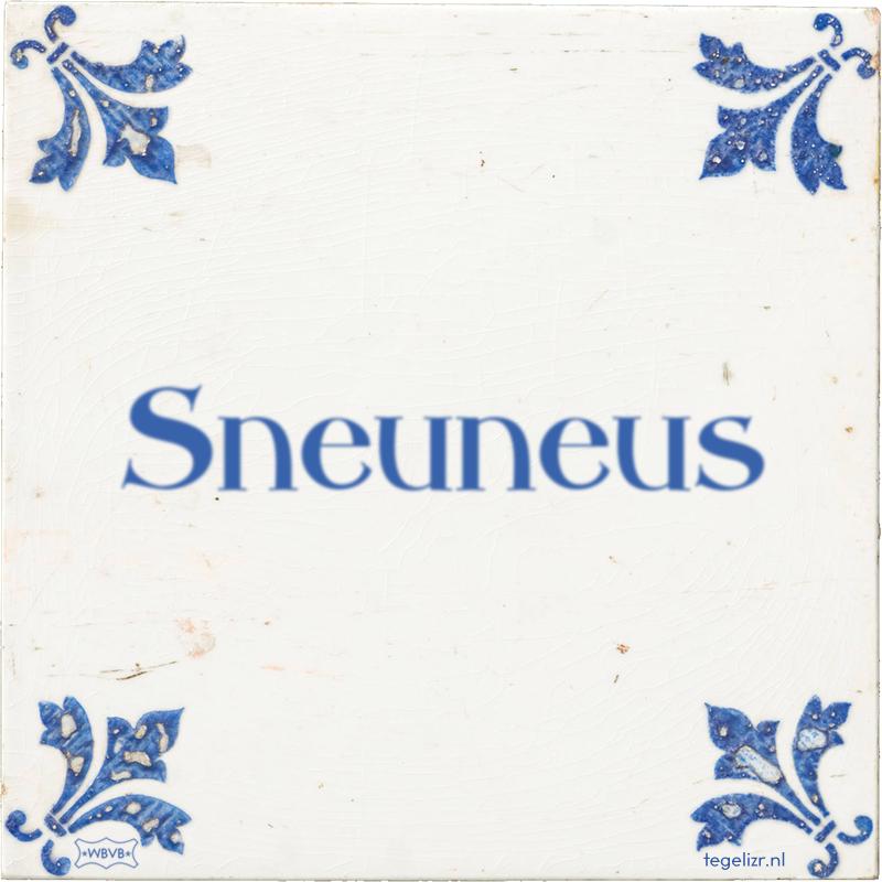 Sneuneus - Online tegeltjes bakken